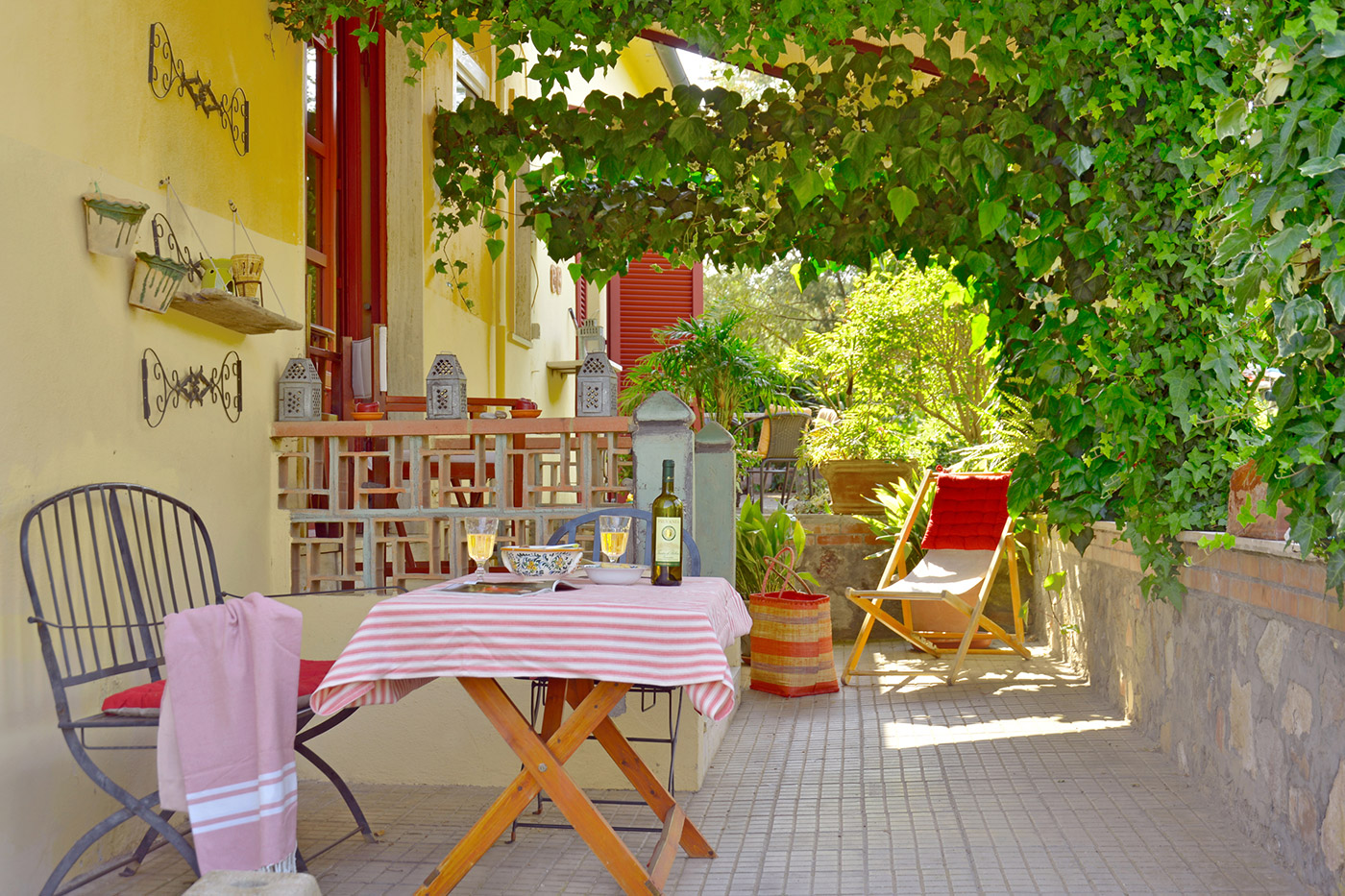 Toskana Urlaub Ferienwohnung C Terrasse