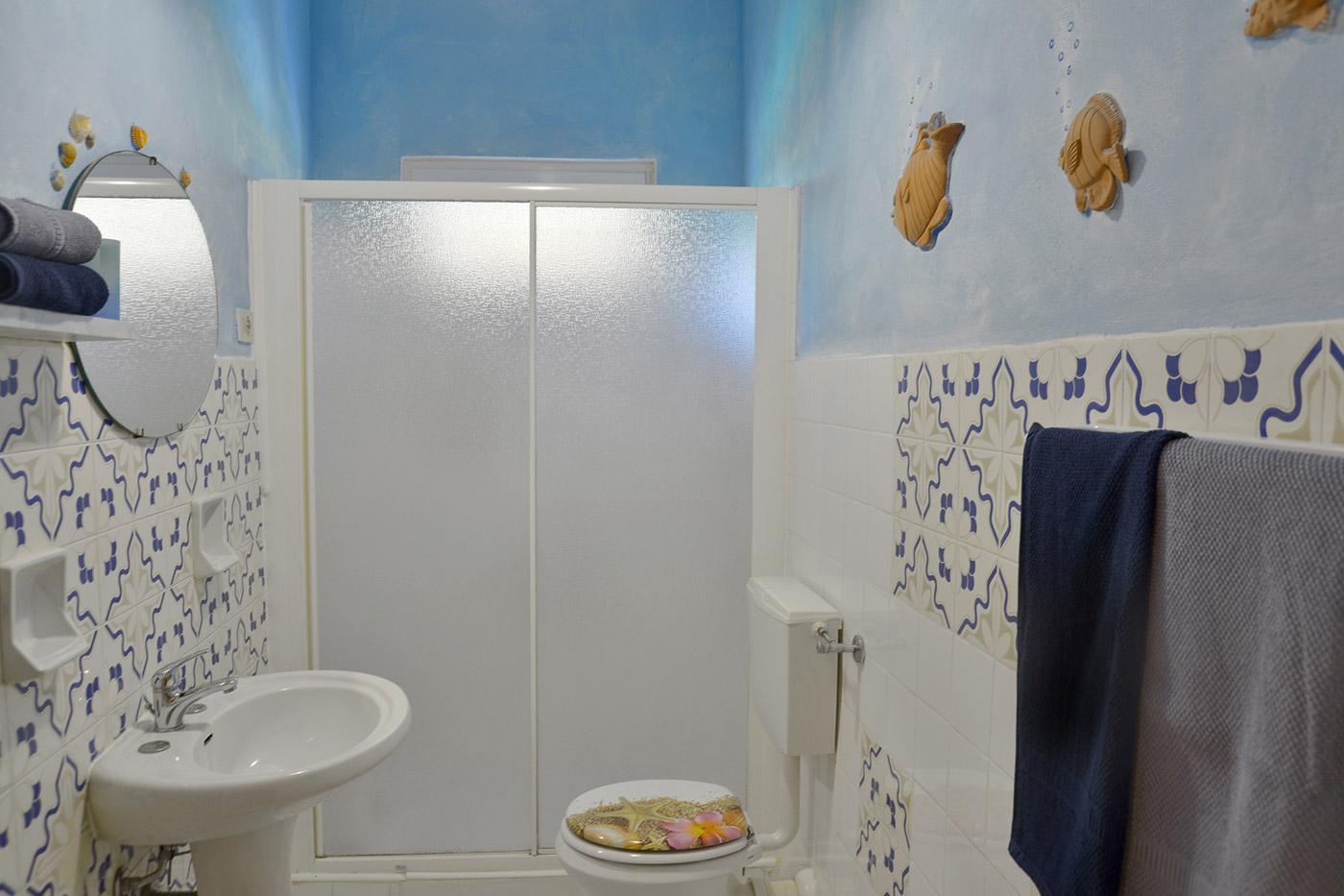 Toskana Urlaub Ferienwohnung D Badezimmer
