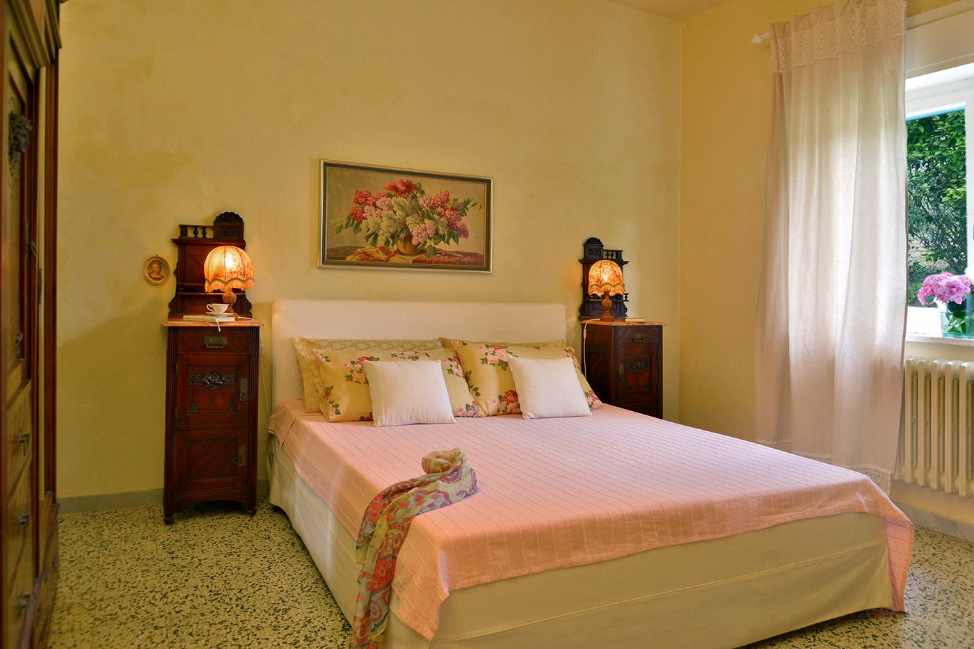 Toskana Urlaub Ferienwohnung D Schlafzimmer